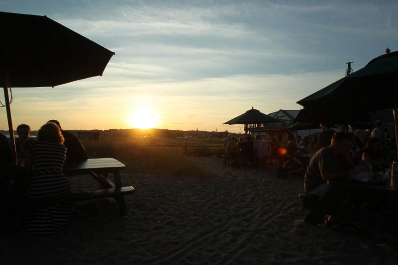 Sunset over Wellfleet Pier