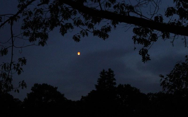 Sky lantern over Forest Hills