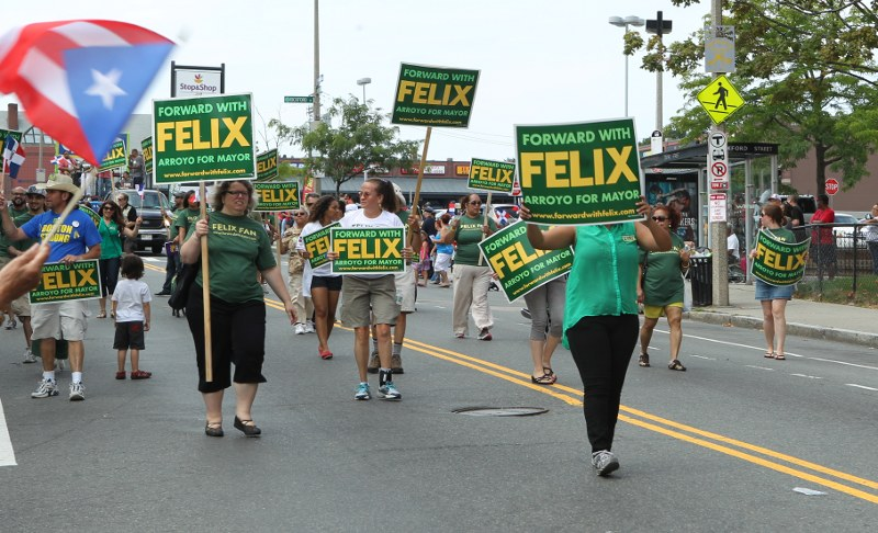 Felix Arroyo supporters