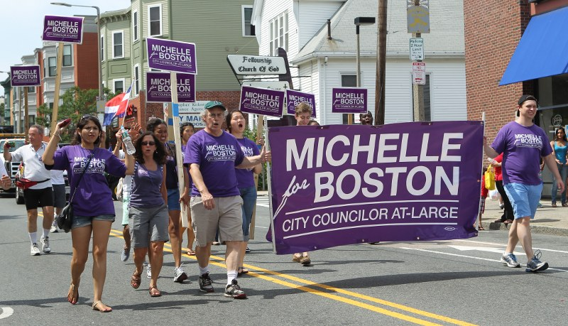 Michelle Wu supporters