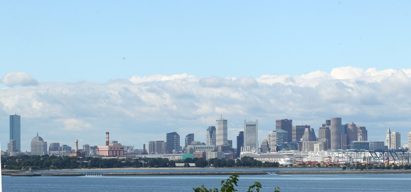 Boston skyline as seen from Spectacle Island