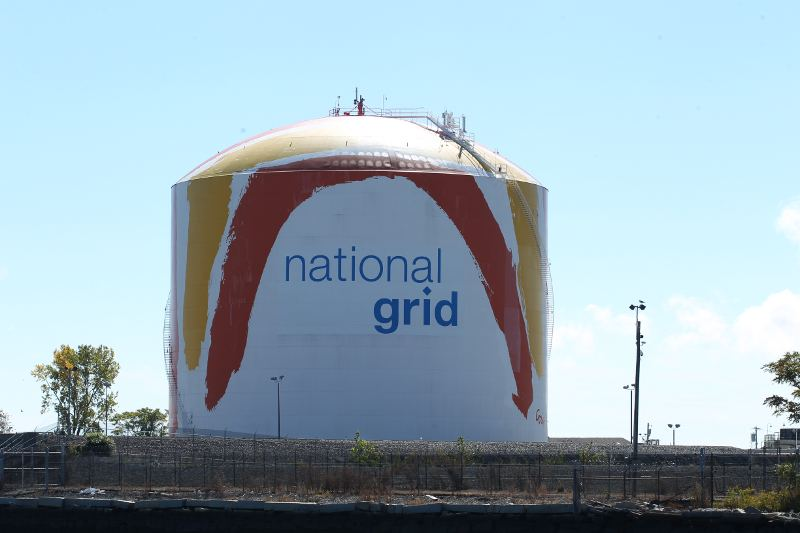 National Grid gas tank