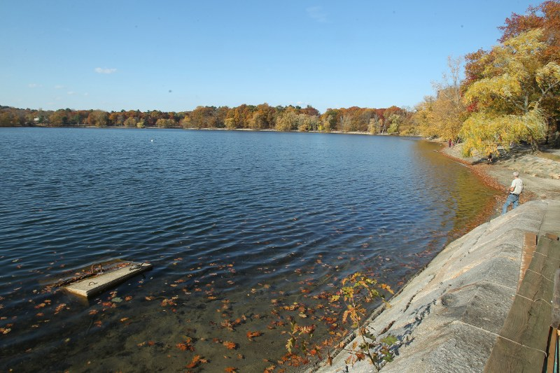 Jamaica Pond on a fall day