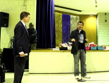 David Jenkins speaks at the MBTA hearing