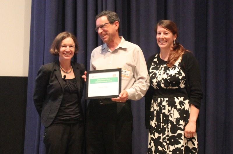 Steve Miller receives bike award