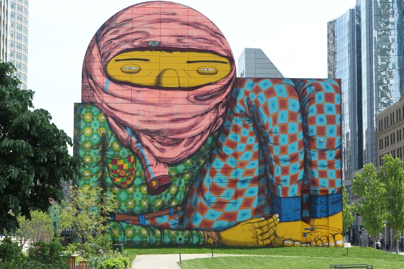 The Greenway Monster mural