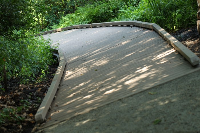Renovated boardwalk